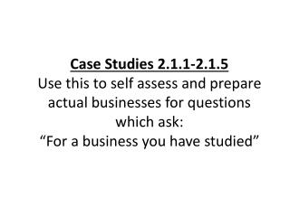2.1.1 Business Ownership