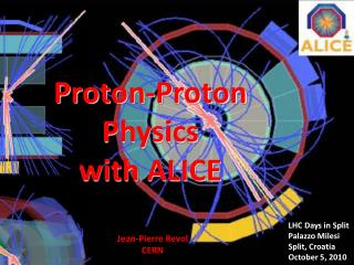 Proton-Proton Physics with ALICE