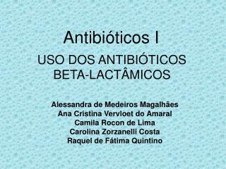 Antibi ticos I