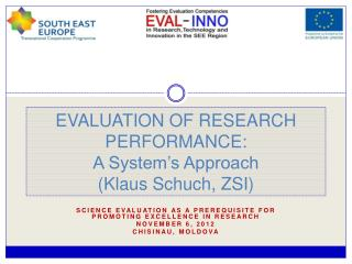 EVALUATION OF RESEARCH PERFORMANCE: A System's Approach  (Klaus Schuch, ZSI)
