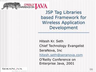 JSP Tag Libraries based Framework for Wireless Application Development