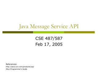 Java Message Service API