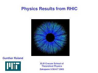 Physics Results from RHIC