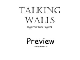 Talking  Walls High Point Book Page 24