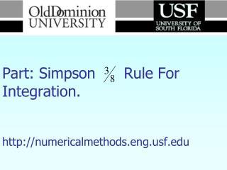 Numerical Methods Part: Simpson      Rule For Integration. numericalmethods.engf
