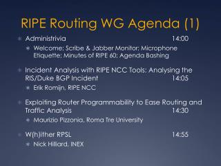 RIPE Routing WG Agenda (1)