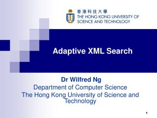 Adaptive XML Search