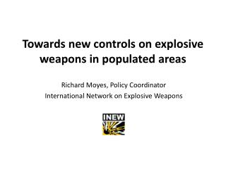 Towards new controls on explosive weapons in populated areas