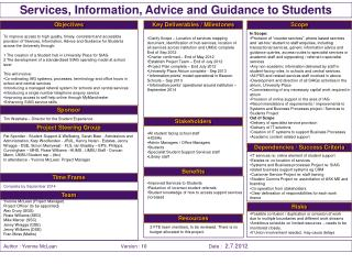 Services, Information, Advice and Guidance to Students