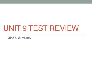 Unit  9  Test Review