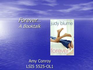 Forever… A Booktalk