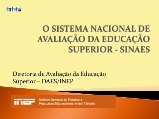 O SISTEMA NACIONAL DE AVALIAÇÃO DA EDUCAÇÃO SUPERIOR - SINAES