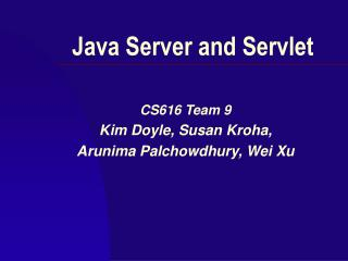 Java Server and Servlet