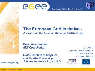 The European Grid Initiative - A View from the Austrian National Grid Initiative