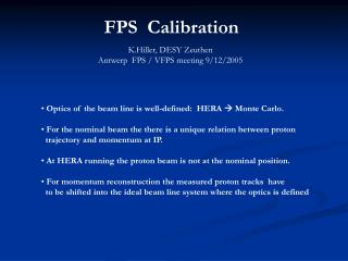 FPS  Calibration