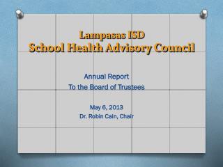 Lampasas ISD School Health Advisory Council