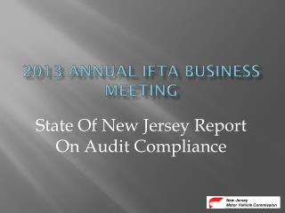 2013 ANNUAL IFTA BUSINESS MEETING