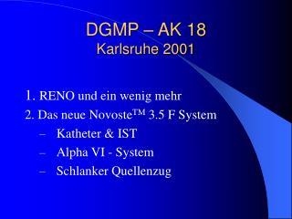 DGMP – AK 18 Karlsruhe 2001