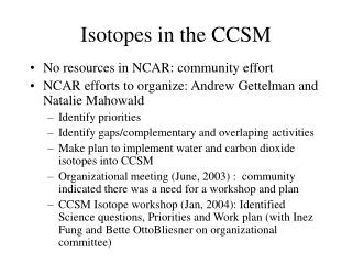Isotopes in the CCSM