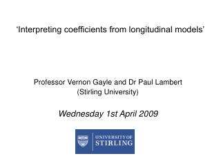 'Interpreting coefficients from longitudinal models'