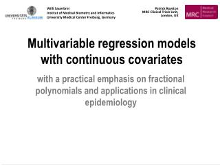 Multivariable regression models with continuous covariates