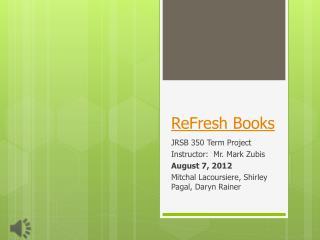 ReFresh  Books