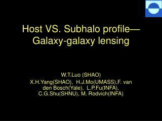 Host VS. Subhalo profile—Galaxy-galaxy lensing