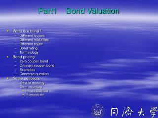 Part1    Bond Valuation