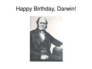 Happy Birthday, Darwin!