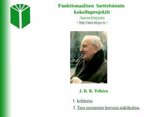 Funktionaalisen  luetteloinnin  kokeiluprojektit Auran kirjasto  (  aura.kirjas.to  )