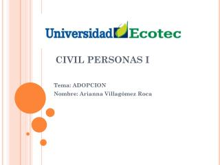 CIVIL PERSONAS I