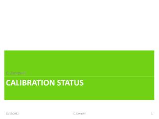 Calibration status