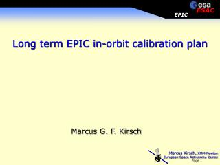 Long term EPIC in-orbit calibration plan