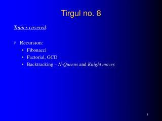 Tirgul no. 8
