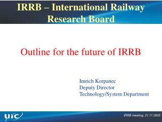 IRRB – International Railway Research Board