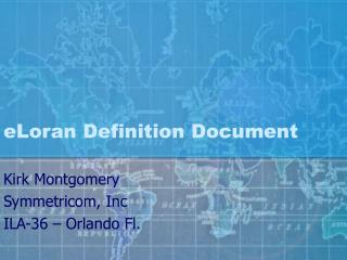 eLoran Definition Document