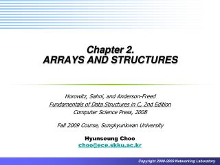 Chapter 2.  ARRAYS AND STRUCTURES
