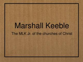 Marshall Keeble