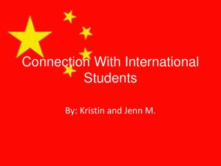 Connection With International Students