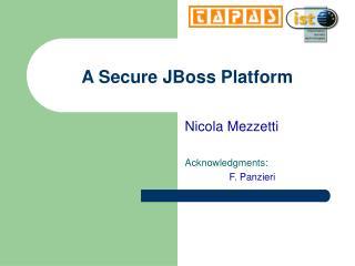 A Secure JBoss Platform