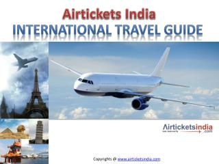 Lowest Airfare International Flights Tickets