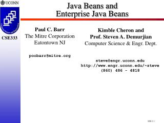 Java Beans and Enterprise Java Beans