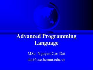 Advanced�Programming Language