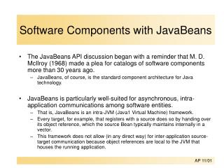 Software Components with JavaBeans