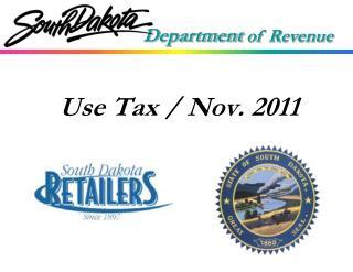 Use Tax / Nov. 2011