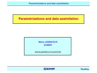 Parametrizations and data assimilation
