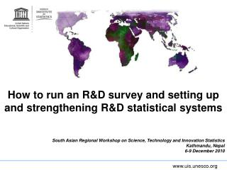 How to run an R&D survey and setting up and strengthening R&D statistical systems