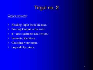 Tirgul no. 2