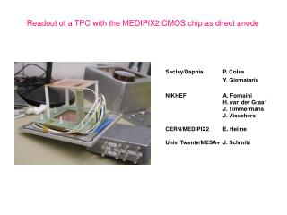 Readout of a TPC with the MEDIPIX2 CMOS chip as direct anode