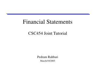 Financial Statements